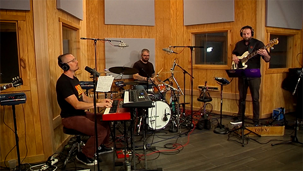 Band recording in studio